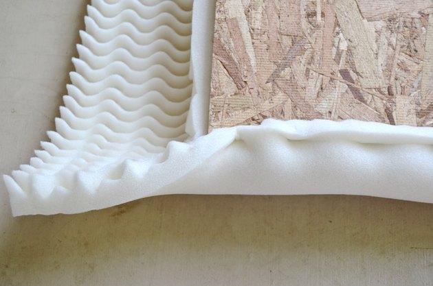 staple foam around plywood seat
