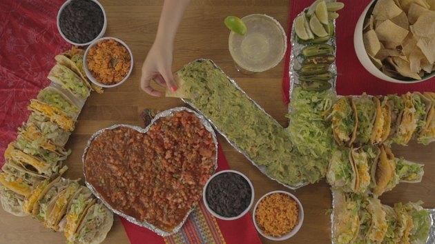 Display of tacos and salsa