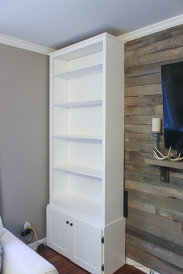 Prefab bookcase before