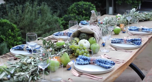 modern harvest tablescape