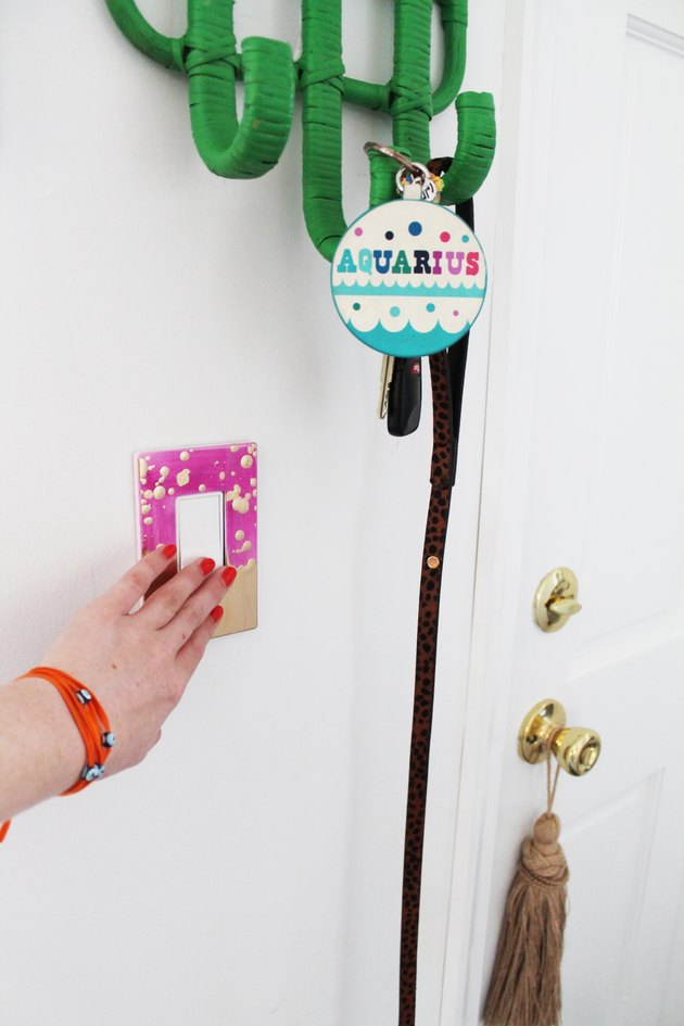 Finished light switch plate