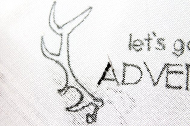 running stitch on design