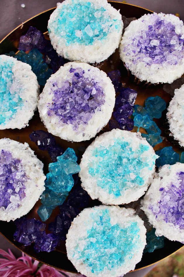 How to Make Geode Cupcakes