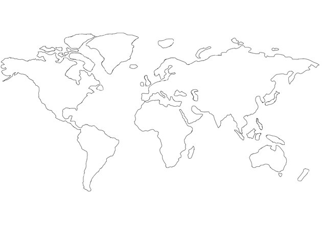 World Map Rough outline