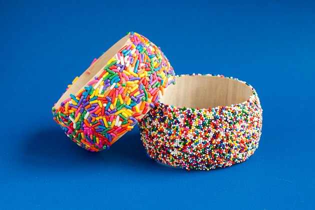 Finished sprinkle bangles