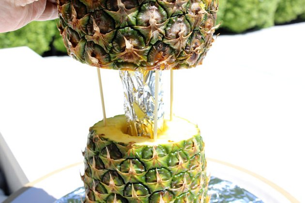 stacking pineapples