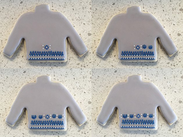 R2-D2 Ugly Christmas Sweater Cookie Steps 5-8