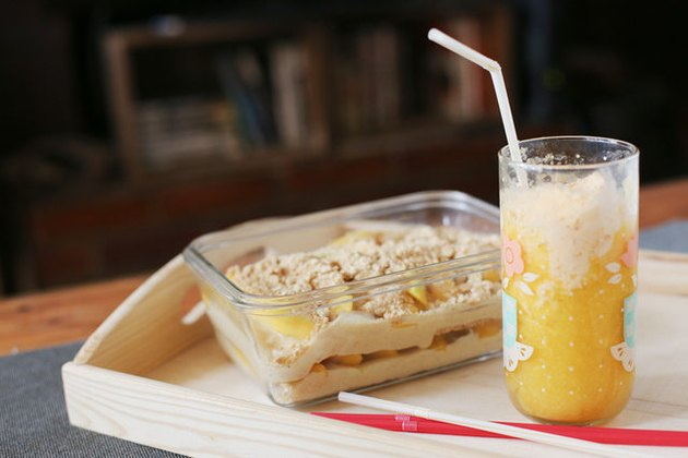 Mango icebox cake and ice cream float
