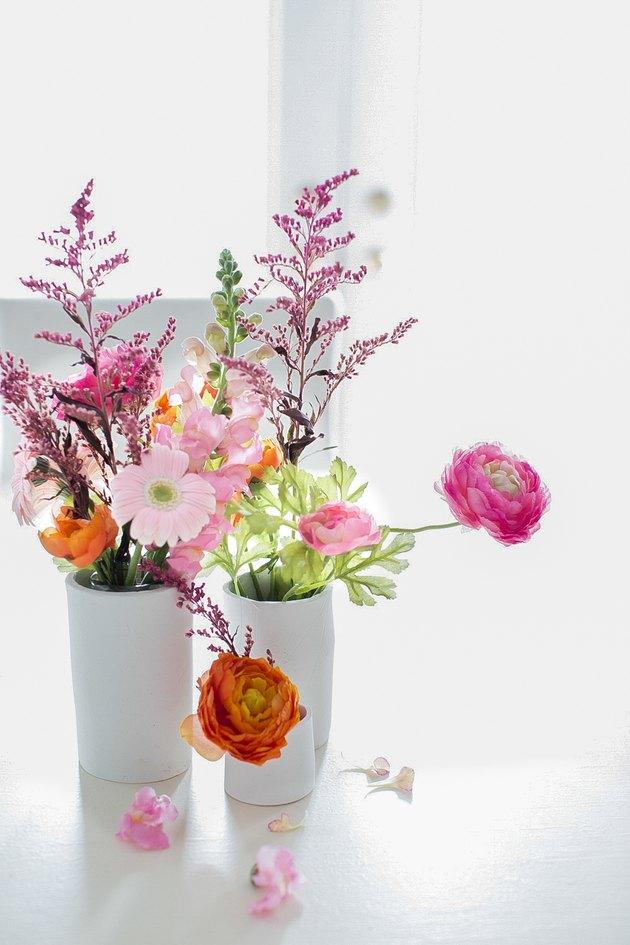 Clay Vase Display
