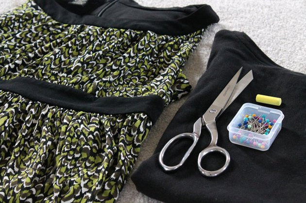 Materials needed to add sleeves to a sleeveless dress