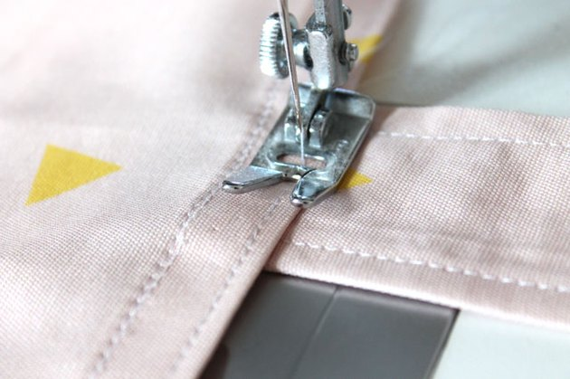 sew straps to bag