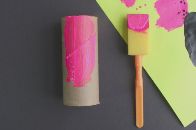 toilet paper tube painted pink