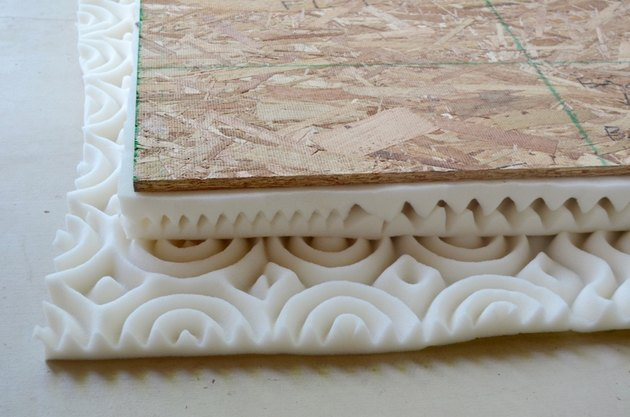 foam layers for upholstered bench seat