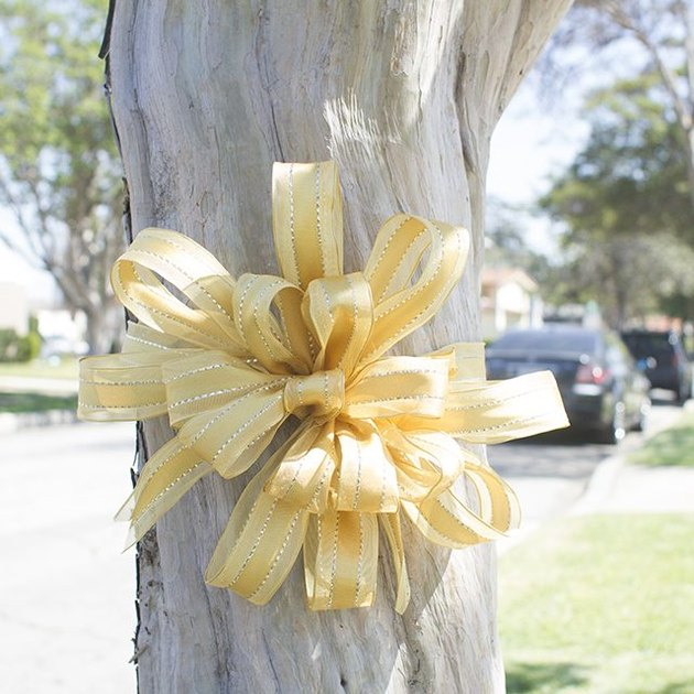 12.  large decorative yellow bow
