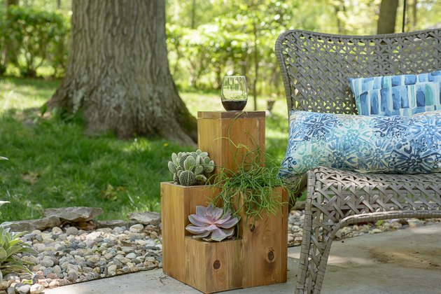 Outdoor Patio Side Table with Planter