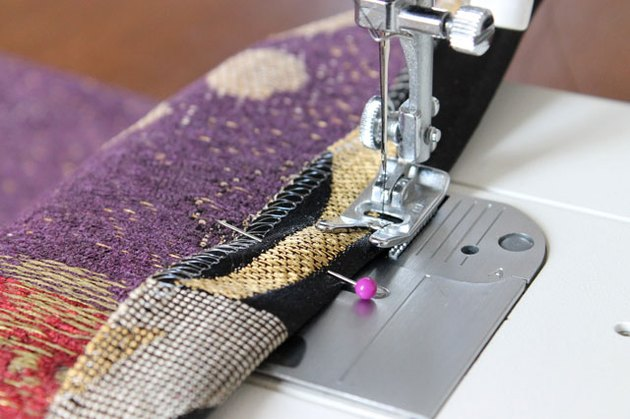 Sew top edge close to the fold.