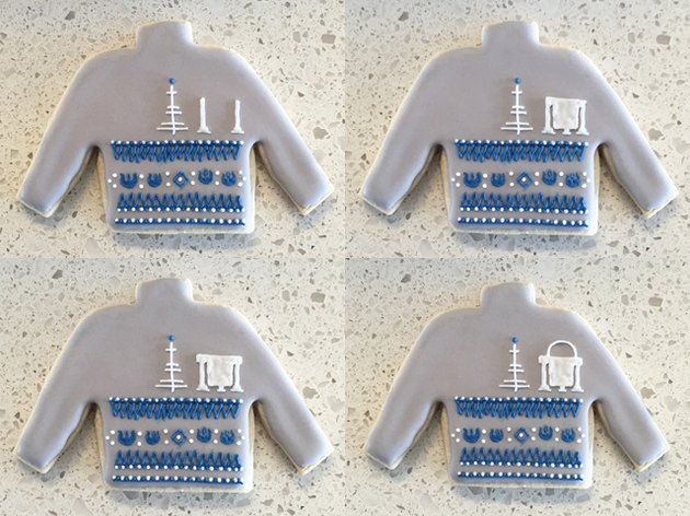 R2-D2 Ugly Christmas Sweater Cookie Steps 13-16