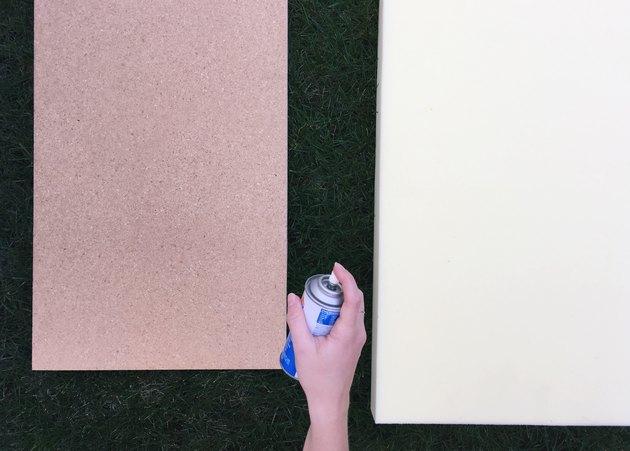 Spray adhesive step