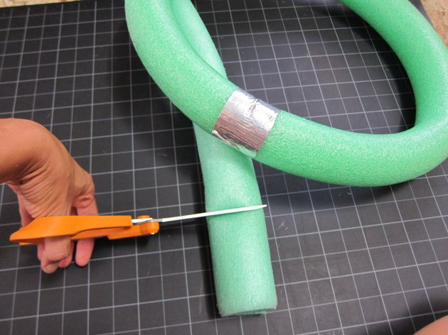 Tape pool noodle together end to end