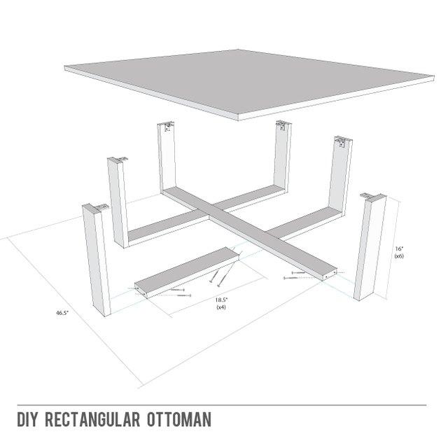 How to build a rectangular ottoman