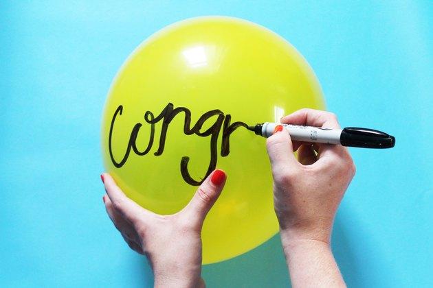 Write on a balloon