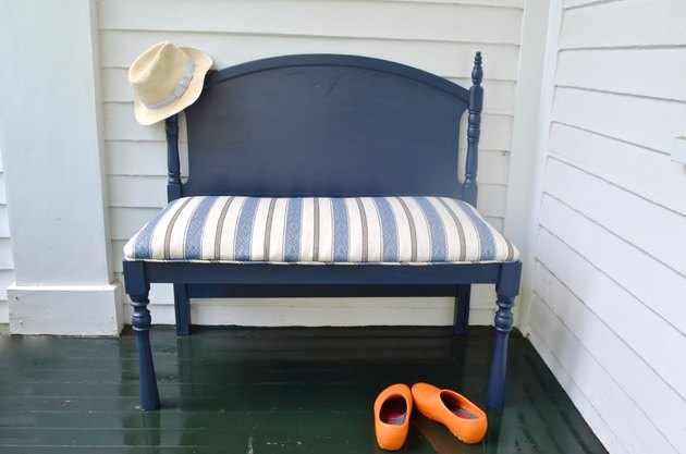 headboard turned chic upholstered bench