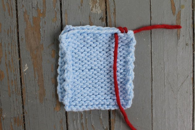 Making the second whip stitch