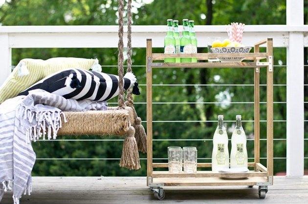 Outdoor bar cart.