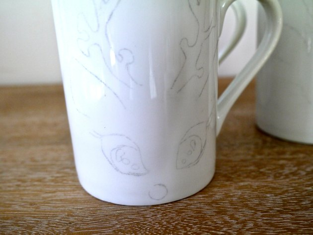 A mug with the transferred image in place