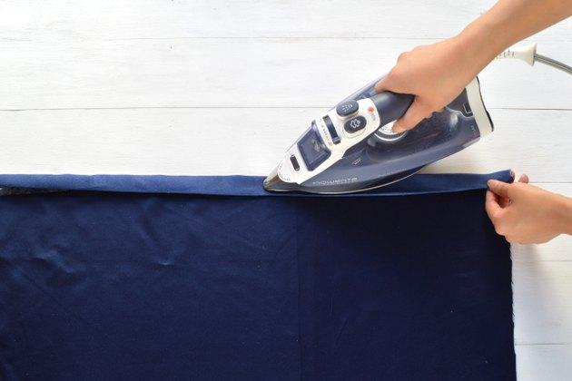 Fusible webbing tape melts when heat is applied
