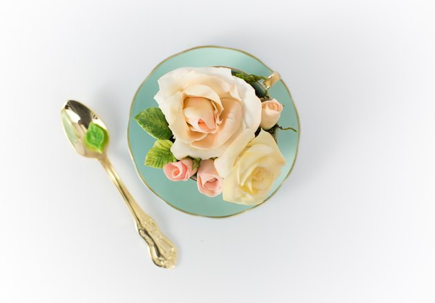 Roses made of cold porcelain