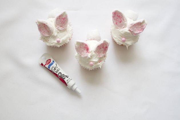 Decorate bunny face with pink sugar pearls