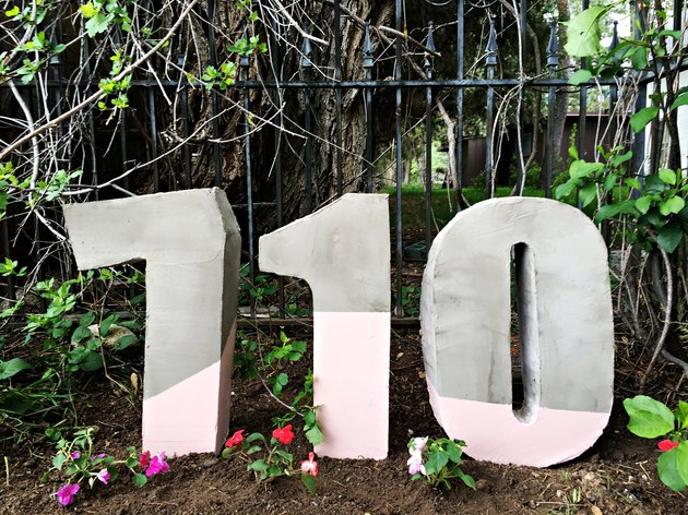 How to Make Painted House Numbers from Cement