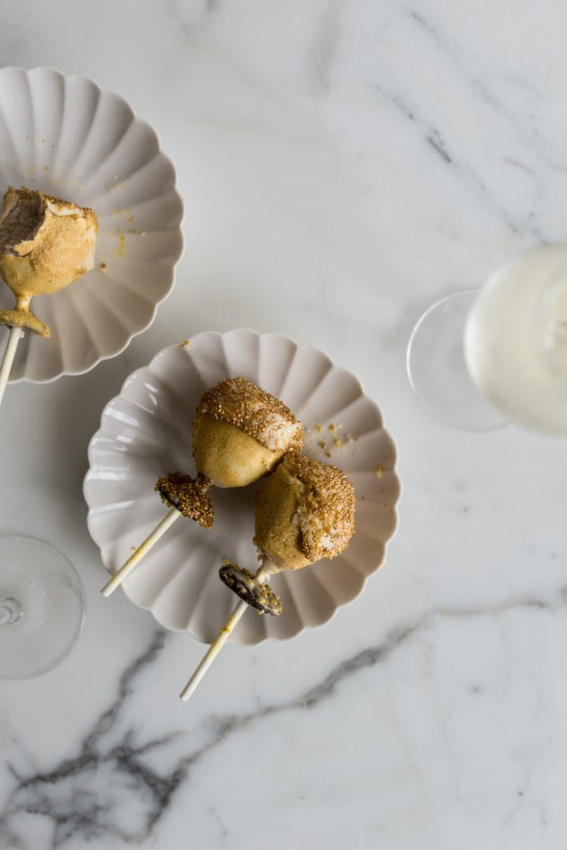 Serve and enjoy these Champagne Glass Cake Pops alongside a glass of Champagne!