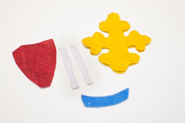 felt pieces for courage pin