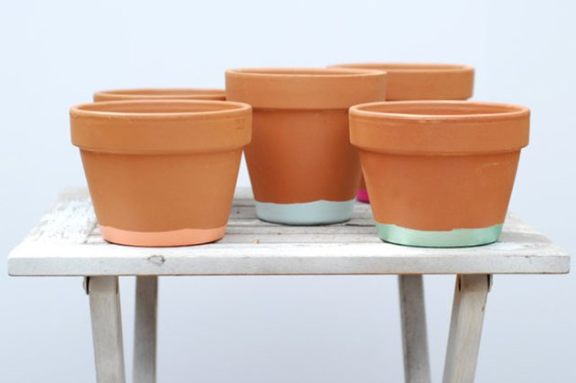 hand painted pots
