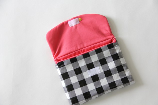 Pin and sew flap velcro