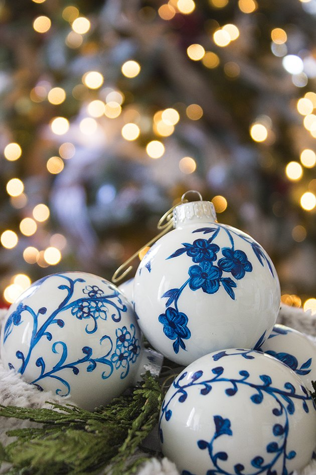 Chinoiserie Ornaments with tree in background