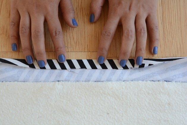 Fold over the fabric.