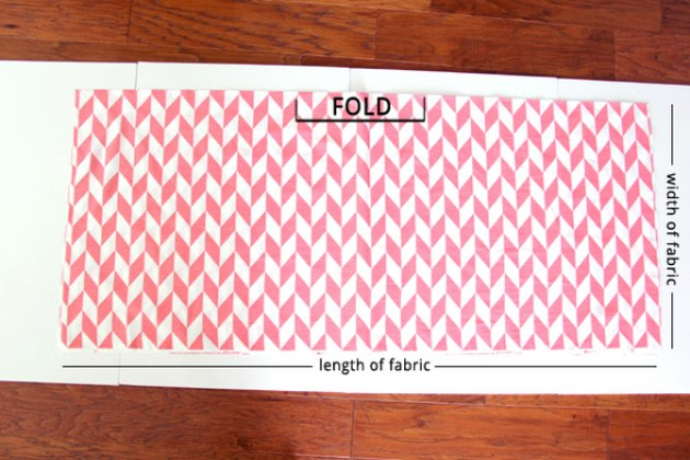 Fold your fabric into fourths to cut the skirt pattern