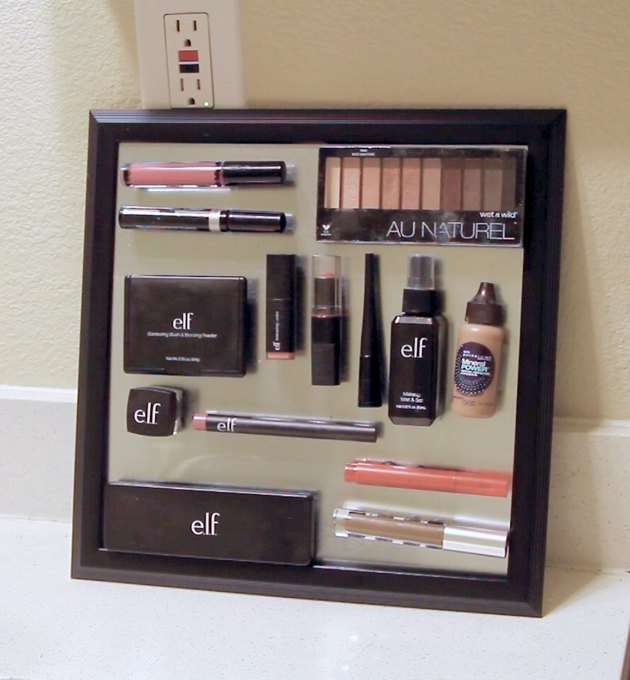 final diy magnetic makeup organizer