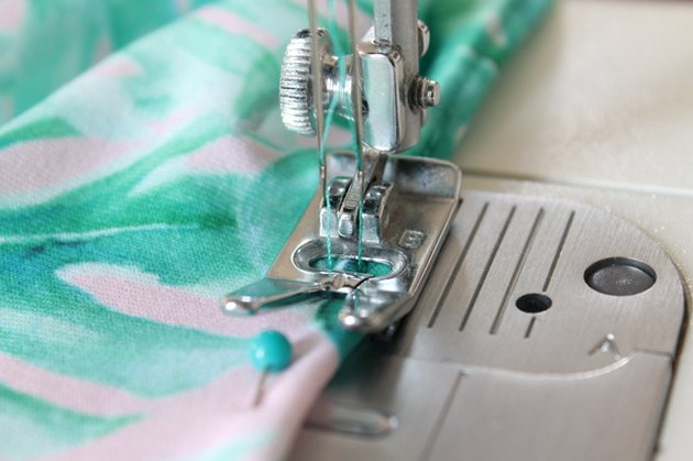 fold under and sew