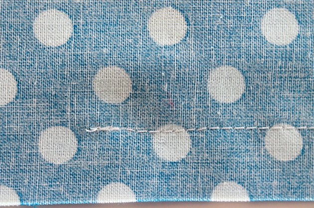 Backstitch at the ends of the seam.