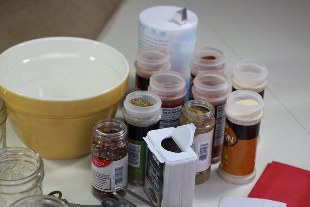 ingredients for DIY taco seasoning