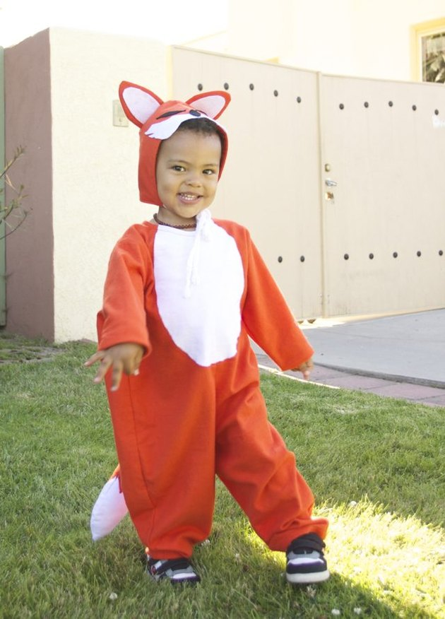 Child in fox costume