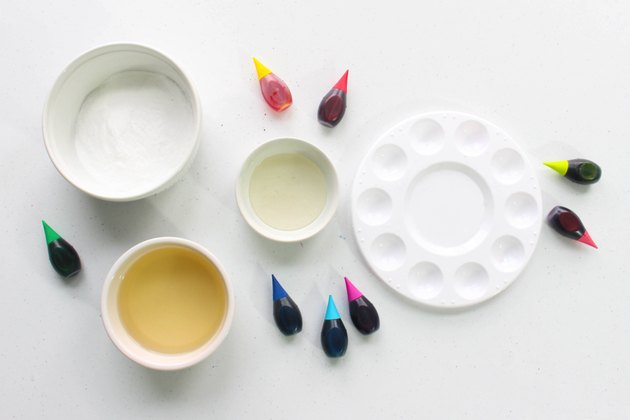 Supplies for making watercolor paints that are safe for kids