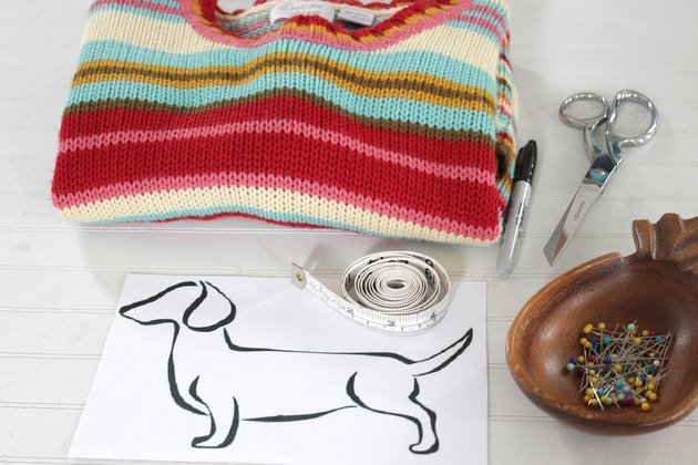 How to turn an old sweater into an adorable dog sweater.