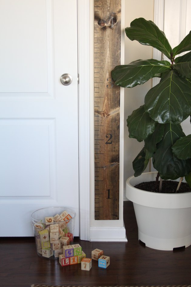 Measuring stick growth chart