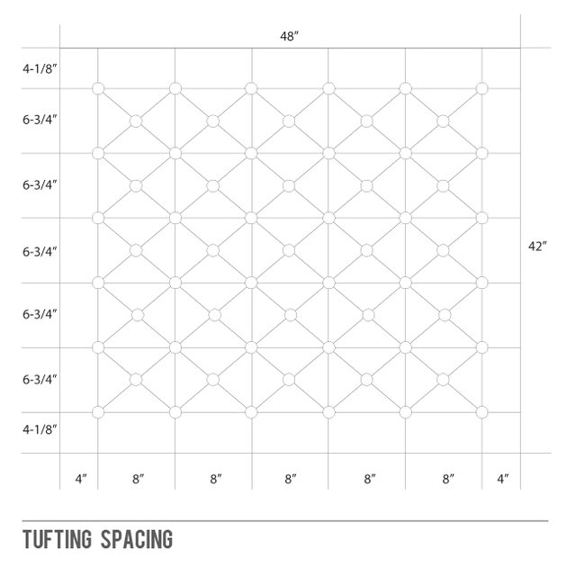 How to space the holes for tufting