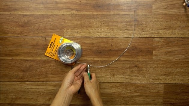 Cutting wire for DIY glass beaded garden sparkler.